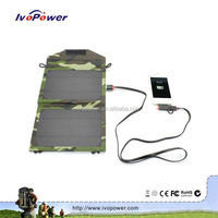 Ivopower new hot mini solar panel power bank charger waterproof portable folding mobile charger with USB connections