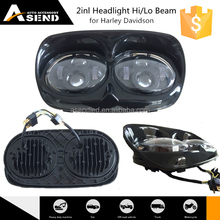 "New arrival made in china 5.75"" led 2 inl headlight for harley davidson 5.6 inch motorycly led headlamp 2inl 40w hi lo beam"