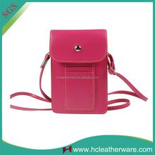 Promotional Gift Crossbody Shoulder Belt Mini Pink Waterproof Cell Phone Bag