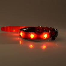 new design LED Nylon Pet Dog Collar Night Safety LED Light-up Flashing Glow In The Dark battery powered flashing led dog collar