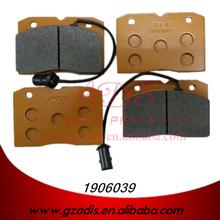 Para iveco 40-10 china auto piezas de pastillas de freno para los coches iveco oem: 1906039