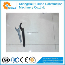 Fixed hook spanner with nose,C hook wrench,hook spanner wrench