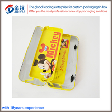 Cool funny kids children stationery school custom metal tin pencil case box