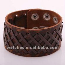 unisex hand make braided leather bracelet