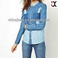fashion denim shirts for women jeans pants shirts JXJ25011