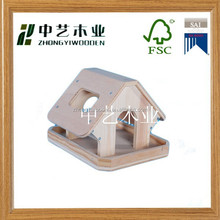 hot selling unfinished custom wooden bird house, feeder, cage wholesale