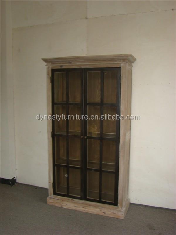 antieke houten woonkamer kast met glazen deurhouten kasten, Meubels Ideeën