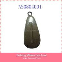 AS0804001Chinese wholesale Pear-shaped Lacquered fishing sinker