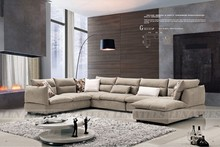 High quolity down feather sofa-fabric sofa, sectional L shapr sofa/G8030