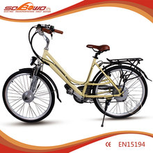NEW 2015 Sobowo S10 Front Suspension LED Display City Electric Bicycle with Li-ion Hub Battery