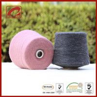 Nylon Cone dyed yarn with alpaca wool space dyed yarn