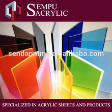 translúcido de color pmma láminas de plástico para material de construcción
