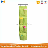 foldable pockets hanging organizer fabric shelves for clothes