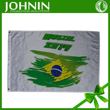 75D polyester material customized design fan hand shaking cheap price style 2014 world cup brazilian team flag