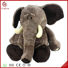 Custom cute plush elephant doll and 8 inches stuffed elephant with design logo