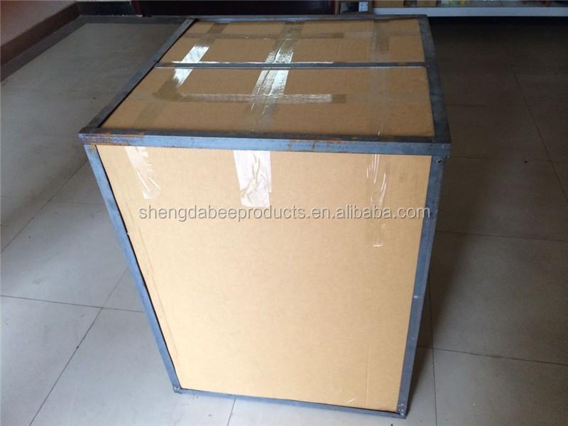 acier inoxydable raffinage du miel machine 550 w 24 cadre automatique r versible miel extracteur. Black Bedroom Furniture Sets. Home Design Ideas