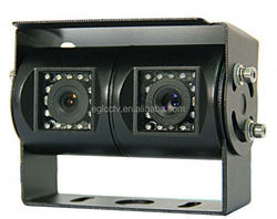 Sony 600tvl Twin Dual Lens school bus surveillance for mobile Vehicle Security Wide Angle ip 68K Nigh Vision