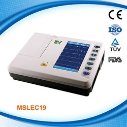 CE ISO Approved High Performance Digital Electrocardiograph ECG Machine (6 channels) MSLEC19-C