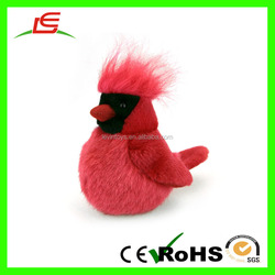 LE OEM Wholesale Red Love Birds Stuffed Plush Bird Toys For Lover