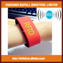 RFID silicone wristbands bracelet easily access hotel rooms and event