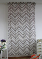 linen like fabric printed curtains