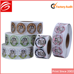 round adhesive labels cosmetic