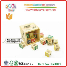 EZ1017 2015 High Quality 27pieces ABC Learning Wooden Educational Blocks for children over 3 years old