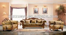 DanXueYa-Chinese foshan furniture sofa -Fashion new design yellow velvet sofa 3038B#