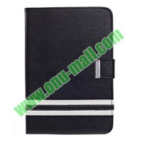Silk Texture Leather Smart Cover for iPad Mini Retina with Credit Card Slots
