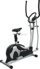 2 in 1 Elliptical Trainer MET801S Cardio&Fitness Gym Workout with Seat Exercise Bike