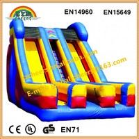 classic design inflatable wet/dry slide with double lanes