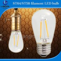led bulb b22 bulb lamp manufacturing ST64 Edison Bulb19 Anchors Squirrel Cage Filament Clear Glass LED bulb