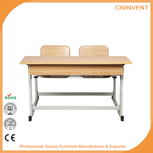 MDF double combo chair for school