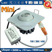 AC85-265V 120lm/W CRI Ra>80 45degree head moving mini 3W luces led