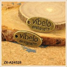 Logo Pendant Charm Mini Oval 7x13mm Antique Bronze Jewelry Pendant