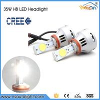 70W 12V 24V Super Bright Car LED Front Headlights High Power H8 Auto Led Headlight Bulb Lamp Xenon White