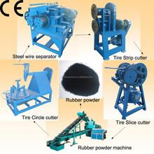 Certificato ce rifiuti pneumatico attrezzature di riciclaggio per la vendita/riciclaggio di pneumatici usati