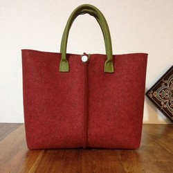 HOT!HOT!HOT! Factory direct Fashional felt tote bag with leather handle MADE IN CHINA