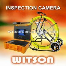 witson de drenaje tormenta de inspección cámara equipada con 10 pulgadas monitor dvr controlador