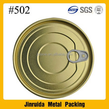 502# EOE 126.5mm easy open lid EOE tinplate easy open ends food grade lid with high quality