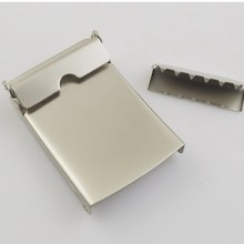 Super quality crazy selling black plated solid iron belt buckles