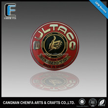 Hot sale new style and fashion 3D acrylic chrome plating round car logo badge/body sticker/nameplate