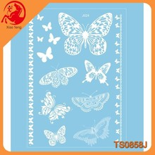 New White Butterflies Design Temporary Tattoo Waterproof Transferable Fake Flash Tatoo Sticker Body Art Women Jewelry