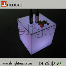 Best sale waterproof illuminated RGB remote control led cube light night table for home