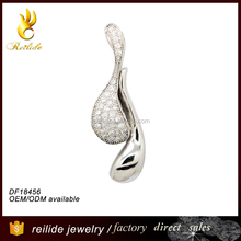 Celebrity Jewellery Ladies Water Drop Shape Small Pendant S925 Sterling Silver Necklace for Women and Girls