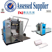 Automatic embossing gluing V folding hand tissue machine manufacturer