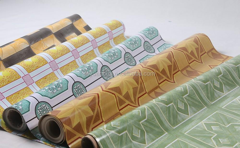 Cheap Linoleum Flooring Rolls --yuanhua Pvc Vinyl Floor