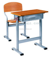 School furniture chair withing writing board,school furniture double student study table