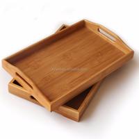 BR001/Natural Rectangle Tea Bamboo Serving Lap Tray -ruby@smxingyuan.com