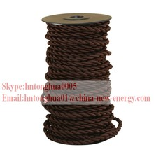 Decorative Cable Pattern Cloth Covered Wire, Textile Braided Cable